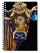 Cow Art - Lucky Number Seven Spiral Notebook
