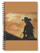 Cow Girl At Sunset Spiral Notebook