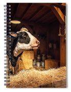 Cow On The Farm Spiral Notebook
