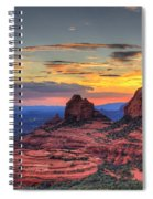 Cow Pies Sunset Spiral Notebook
