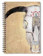 Cow Skull In Yellow Spiral Notebook