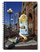 Cowboy Boot Decoration Spiral Notebook