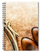 Cowboy Boots And Lasso Spiral Notebook