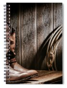 Cowboy Boots In Old Barn Spiral Notebook