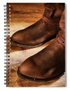 Cowboy Boots On Saloon Floor Spiral Notebook