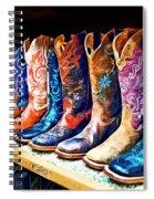 Cowboy Boots Spiral Notebook