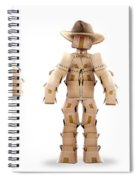 Cowboy Box Characters On White Spiral Notebook