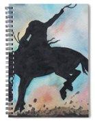Cowboy Bronco Spiral Notebook
