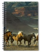 Cowboy Driving Horses Spiral Notebook