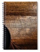 Cowboy Gear On Wood Spiral Notebook
