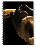 Cowboy Hand Holding Lasso Spiral Notebook
