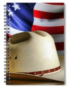 Cowboy Hat And American Flag Spiral Notebook