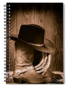 Cowboy Hat And Boots Spiral Notebook
