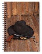Cowboy Hat And Gun Spiral Notebook