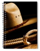 Cowboy Hat And Lasso Spiral Notebook