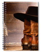 Cowboy Hat On Boots Spiral Notebook