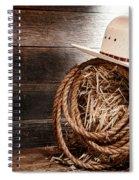 Cowboy Hat On Hay Bale Spiral Notebook