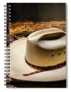 Cowboy Hat On Lasso Spiral Notebook