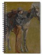 Cowboy In The Badlands Spiral Notebook