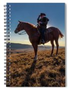 Cowboy Looks Out Over Historic Last Spiral Notebook