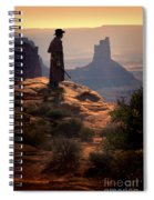 Cowboy On A Cliff Spiral Notebook