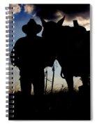 Cowboy Silhouette Spiral Notebook