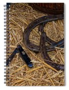 Cowboy Theme - Horseshoes And Whittling Knife Spiral Notebook