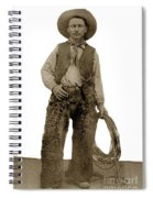 Cowboy With Woolies Cowboy Hat 1900 Spiral Notebook