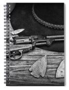 Cowboys And Indians In Black And White Spiral Notebook