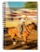 Cowboys Ride And Rope Cattle During San Spiral Notebook