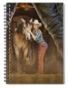 Cowgirl And Cowboy Spiral Notebook