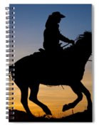 Cowgirl At Sunrise Spiral Notebook
