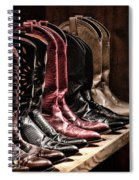 Cowgirl Boots Collection Spiral Notebook