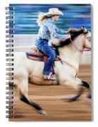 Cowgirl Rides Fast For Best Time Spiral Notebook