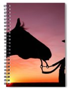 Cowgirl Sunset Spiral Notebook