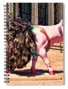 Cow Parade N Y C 2000 - Prima Cowlerina Spiral Notebook