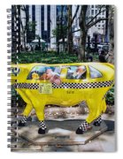 Cow Parade N Y C 2000 - Taxi Cow Spiral Notebook