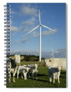 Cows And Windturbines Spiral Notebook
