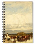 Cows Crossing A Ford Spiral Notebook