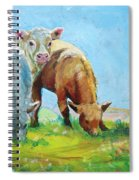 Cows Landscape Spiral Notebook
