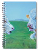 Cows Lying Down Chatting Spiral Notebook