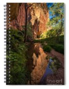Coyote Gulch Canyon Reflection - Utah Spiral Notebook