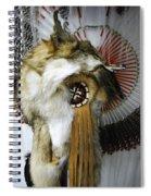 Coyote Headdress 1 Spiral Notebook
