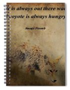 Coyote Proverb Spiral Notebook