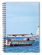Cozumel Excursion Boats Spiral Notebook