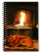 Cozy By The Fire Spiral Notebook