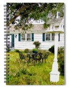 Cozy Little Back Yard Terrace With Table And Chair Spiral Notebook