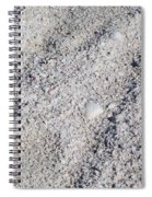 Crab And Footprint Spiral Notebook