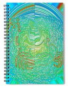 Crab In Plastic Wrap Abstract Spiral Notebook