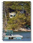 Crab Traps On Boat Near Shore Portland Spiral Notebook